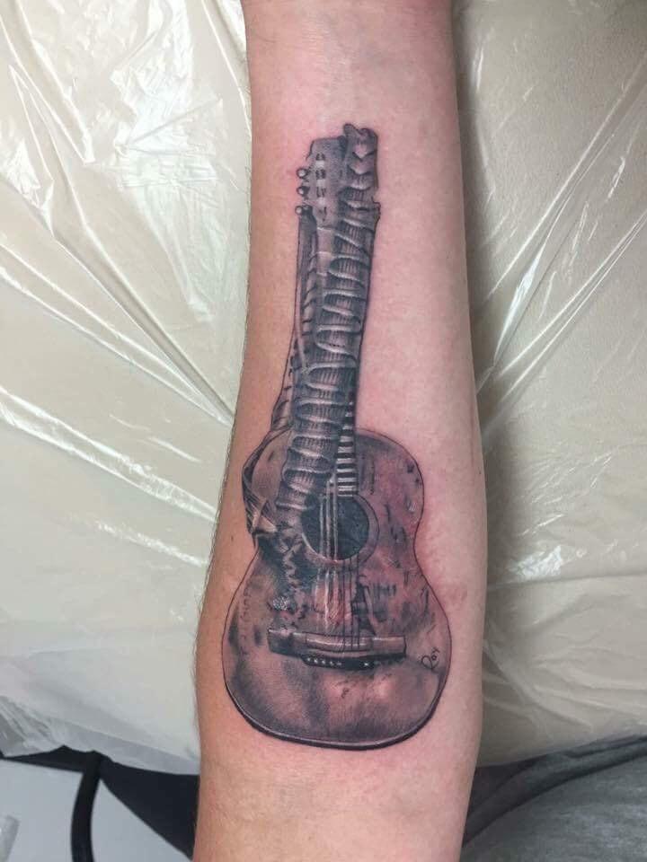 Guitar Custom Tattoo - Firme Copias