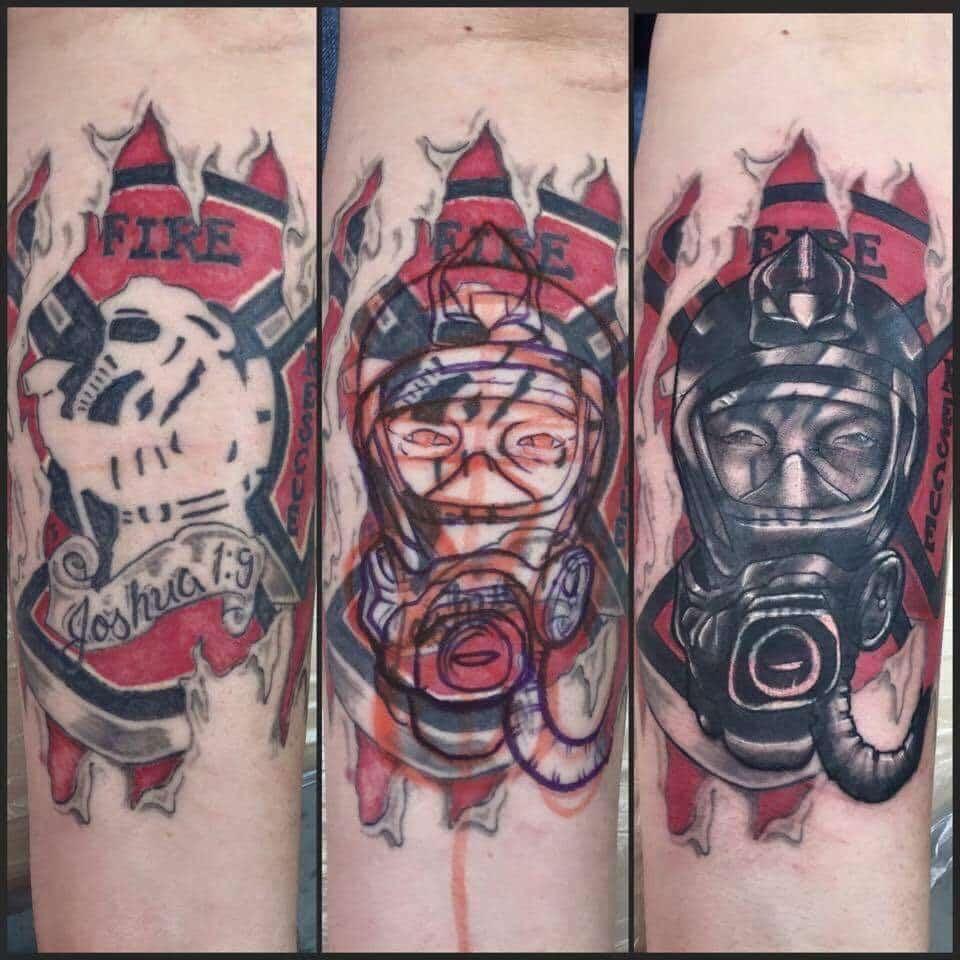 Fireman Custom Tattoo - Firme Copias