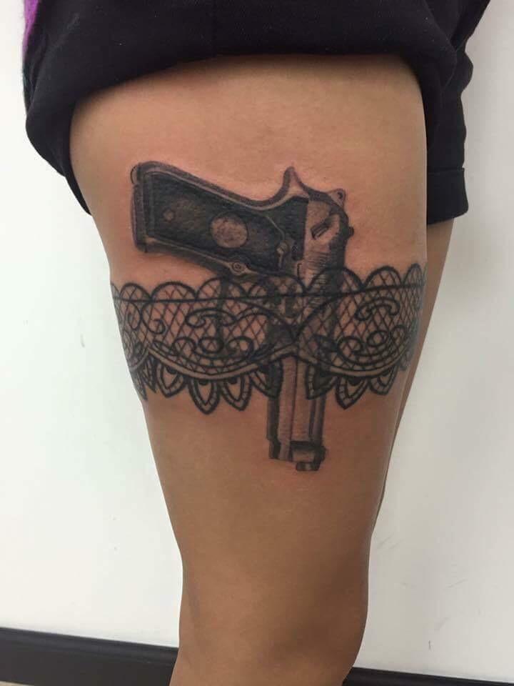 Gun Custom Tattoo - Firme Copias