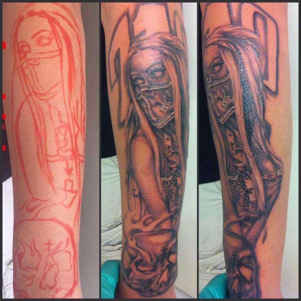 Lady Assassin Custom Tattoo - Firme Copias