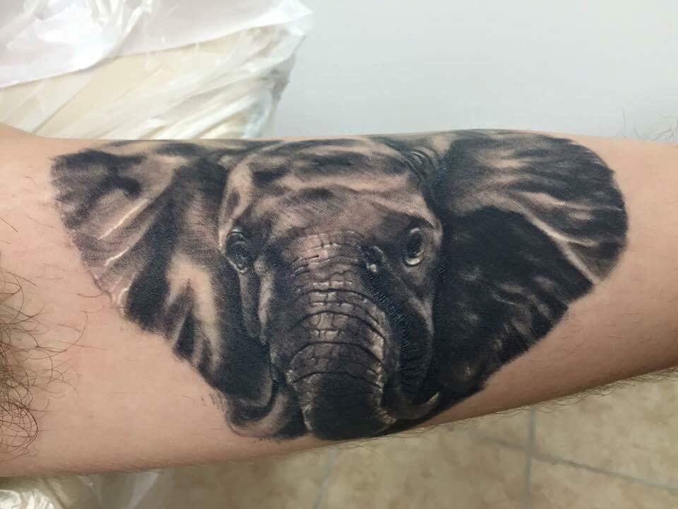 Elephant Custom Tattoo - Firme Copias