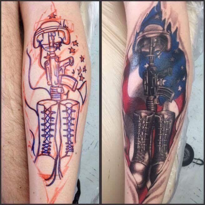 Military Custom Tattoo - Firme Copias