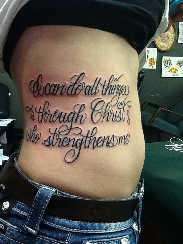 San Antonio Bible Verse Custom Tattoo - Firme Copias