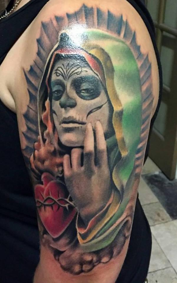 Skull Lady Custom Tattoo - Firme Copias