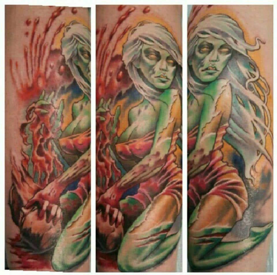 Demon Lady Custom Tattoo - Firme Copias