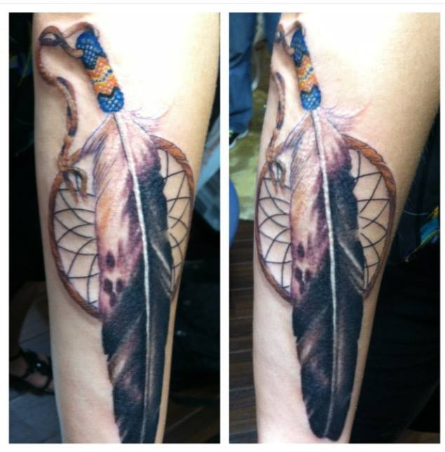 Dream Catcher Custom Tattoo - Firme Copias
