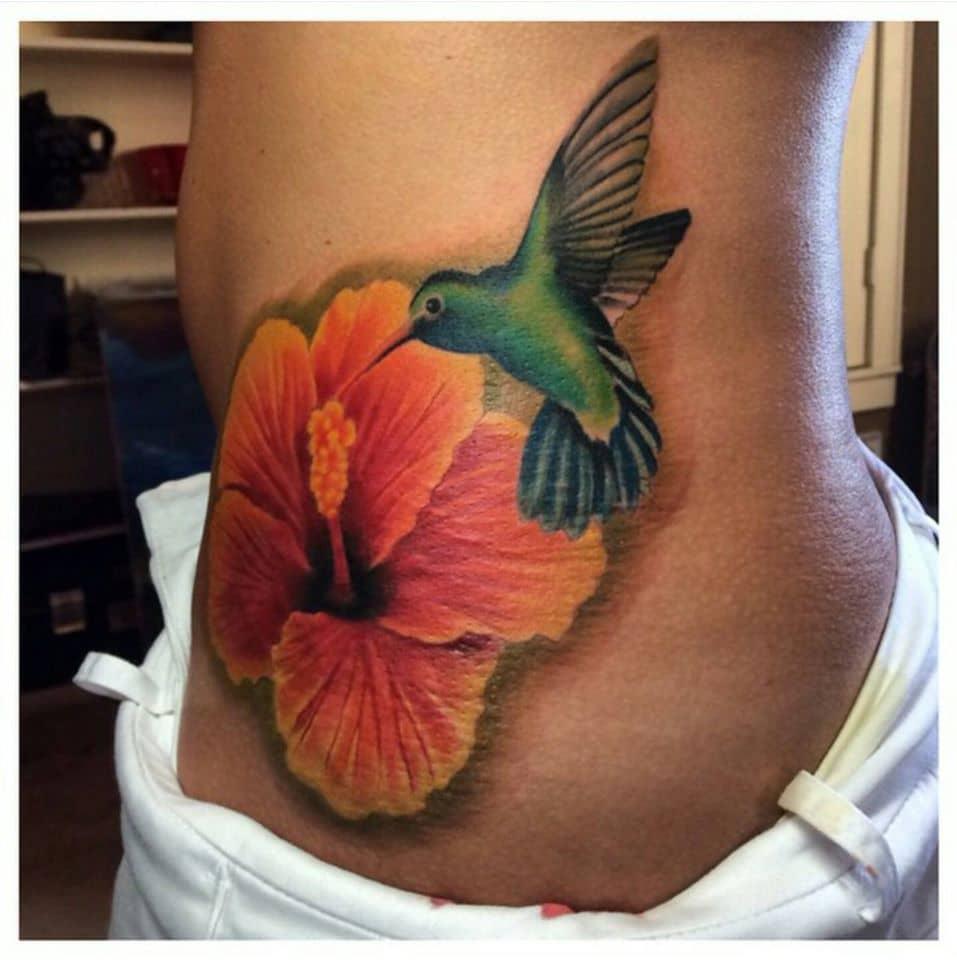 Hummingbird Custom Tattoo in San Antonio - Firme Copias