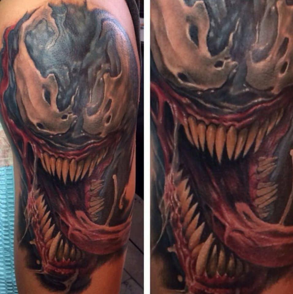 Marvel Venom Custom Tattoo in San Antonio - Firme Copias