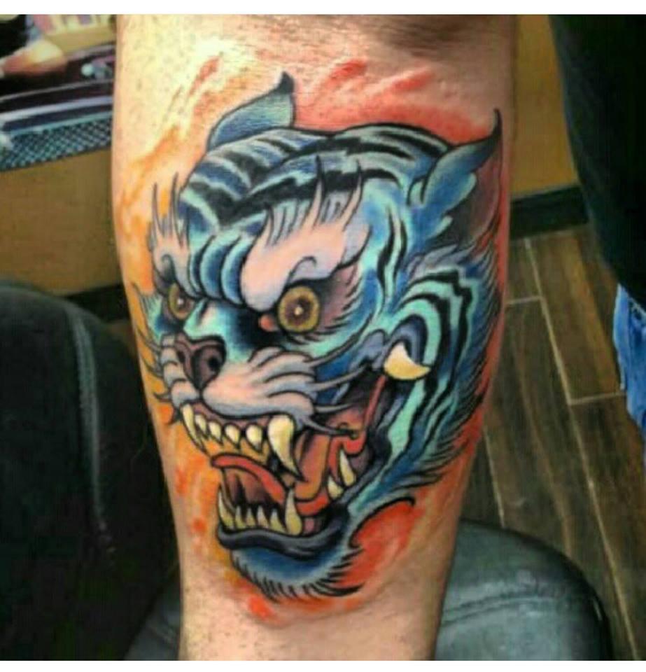 Dragon Head Custom Tattoo in San Antonio - Firme Copias