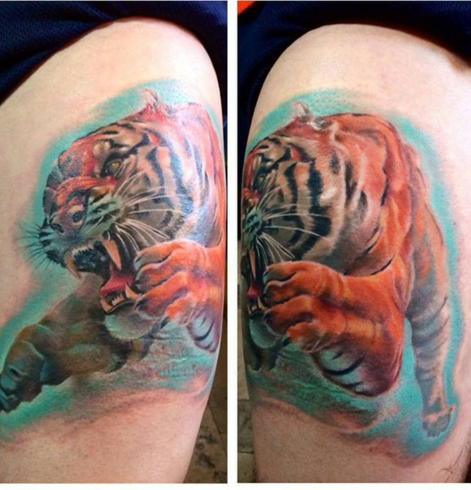 Tiger Custom Tattoo - Firme Copias