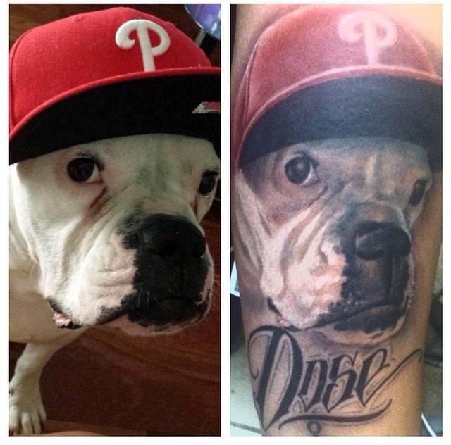 Dog Portrait Tattoo - Firme Copias
