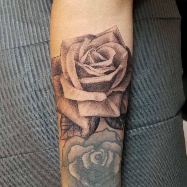 Top Quality San Antonio Rose Tattoo - Firme Copias