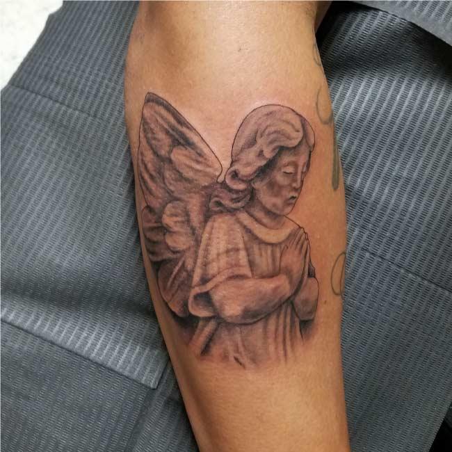 Angel Custom Tattoo by Tattu Tim - Best tattoo artist in San Antonio Tx - Firme Copias
