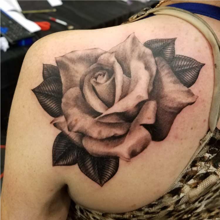 Affordable Tattoos in San Antonio - Rose Custom Tattoo - Firme Copias