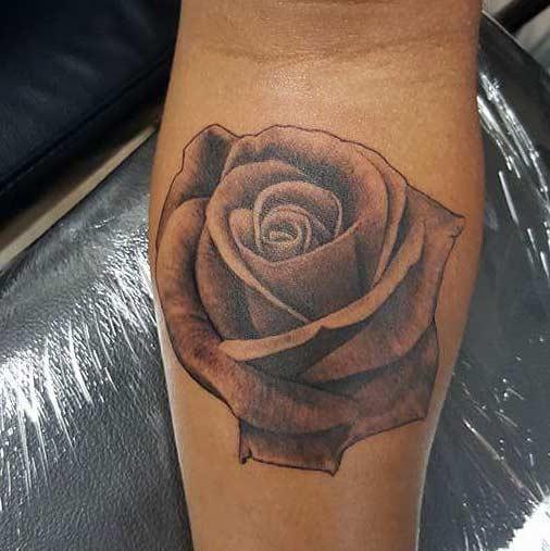 Rose Tattoo by Tattu Tim - San Antonio tattoo artist - Firme Copias
