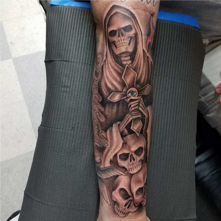 Demons Custom Tattoo - San Antonio budget friendly tattoo artist - Firme Copias