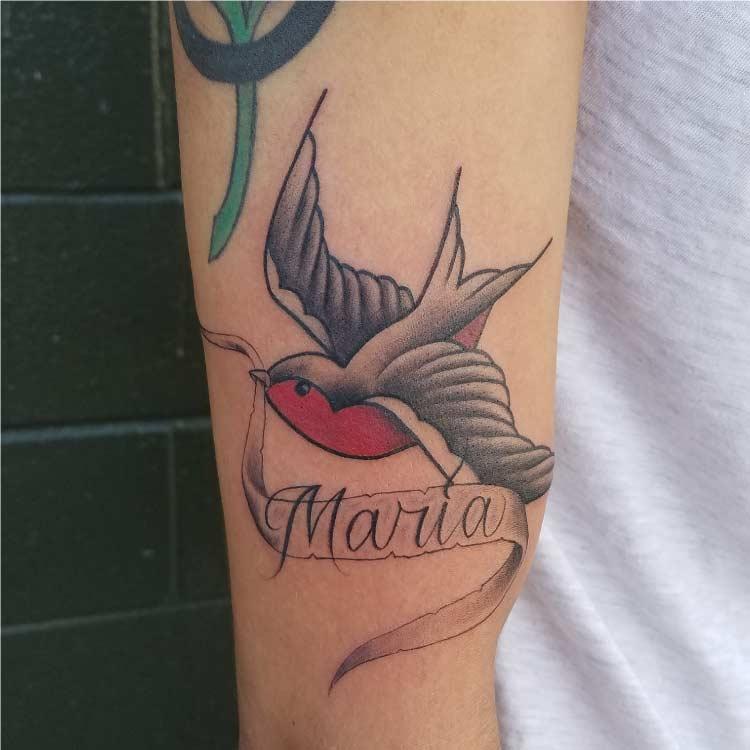 Bird Custom Tattoo - Firme Copias - San antonio tattoo shop