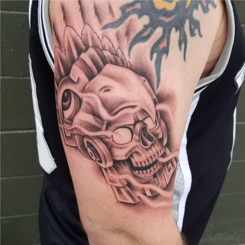 Skull Custom Tattoo in San Antonio - Firme Copias