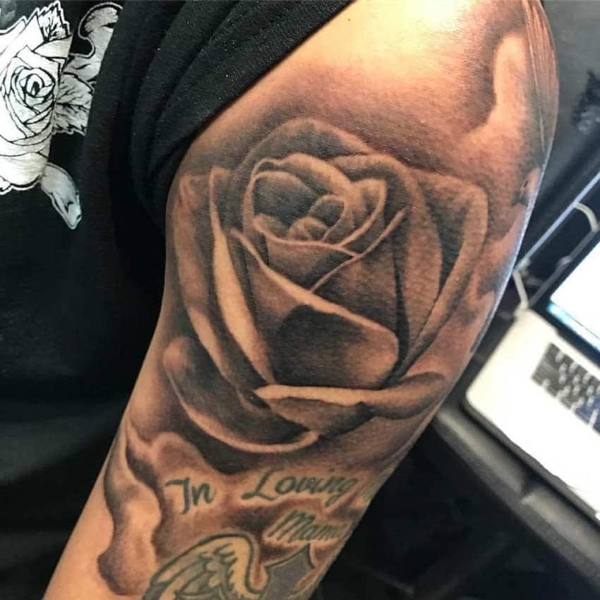 Rose Tattoo - Budget friendly tattoo in San Antonio - Firme Copias